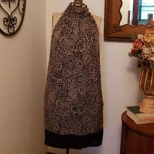 Dresses & Skirts - Halter style taupe and black printed dress